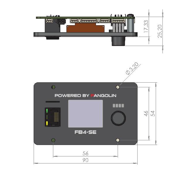 Pangolin Laser Flashback 4 - technische Zeichnung