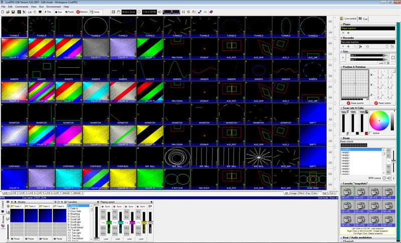 Laserdesigner Pangolin LivePro Lasershowsoftware für Flashback 3