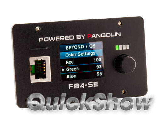 Pangolin Flashback 4 Netzwerk Interface mit Lasershowsoftware QuickShow